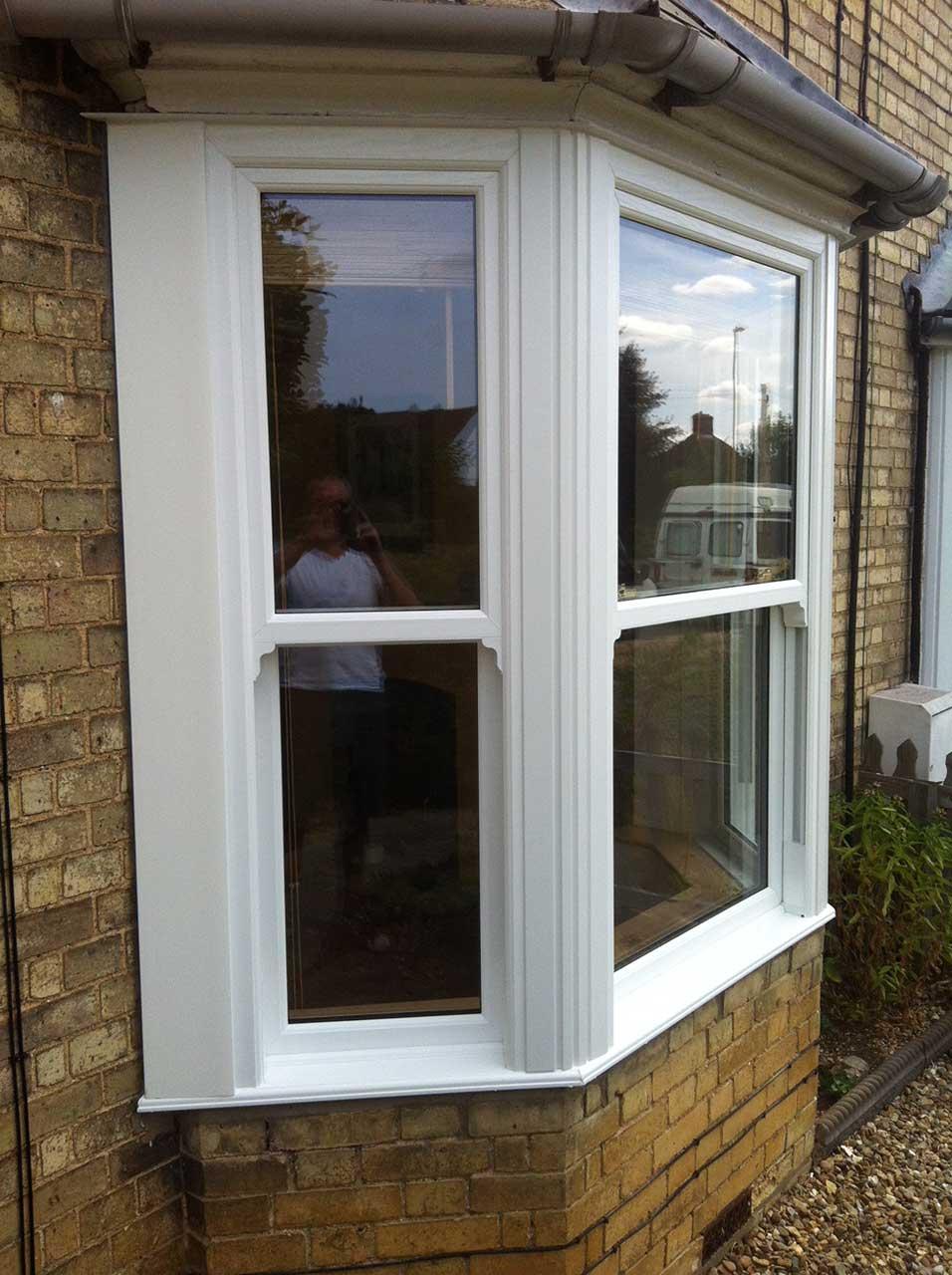 New Sliding Sash White Wood Windows In Hartford Apple Home Improvements